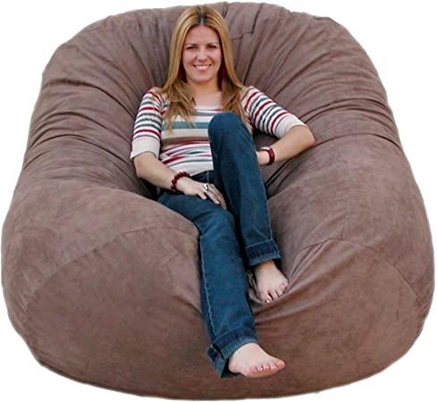 Amazon.com: Cozy Sack 6-Feet Bean Bag Chair, Large, Earth: Kitchen .