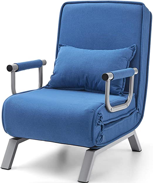 Amazon.com: Kealive Sofa Chair Fold Out Bed with Arm Single Sofa .
