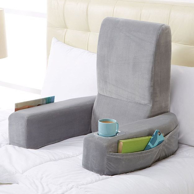 A pillow chair to make reading in bed even better. | Christmas .