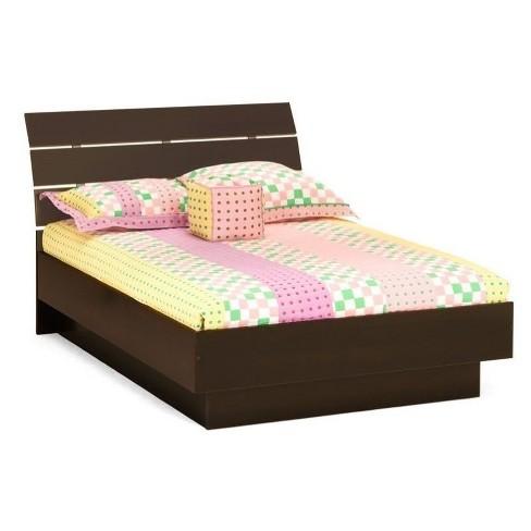 Wood Queen Platform Bed In Coffee Brown-Atlin Designs : Targ