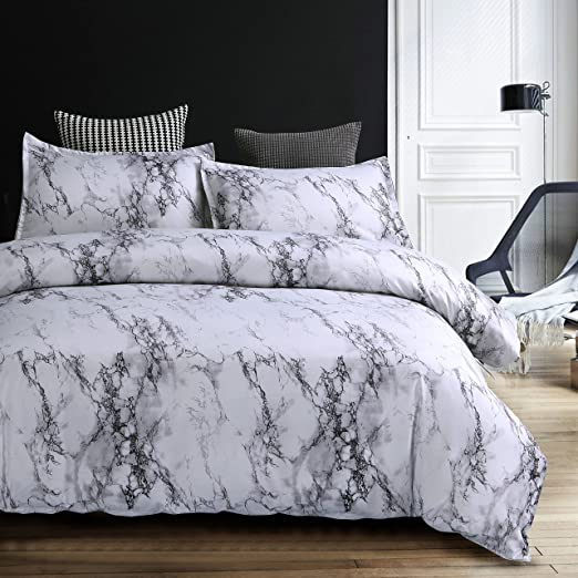 Amazon.com: Home4Joys Marble Bedding Sets Pillows Case and Duvet .