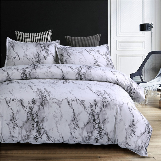 Marble Pattern Bedding Sets Bed linen (No Sheet No Filling .