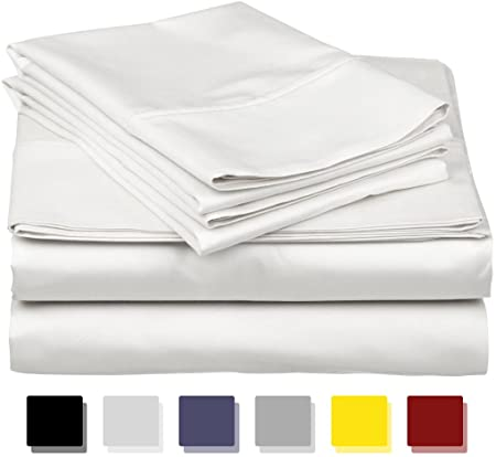Amazon.com: True Luxury 1000-Thread-Count 100% Egyptian Cotton Bed .