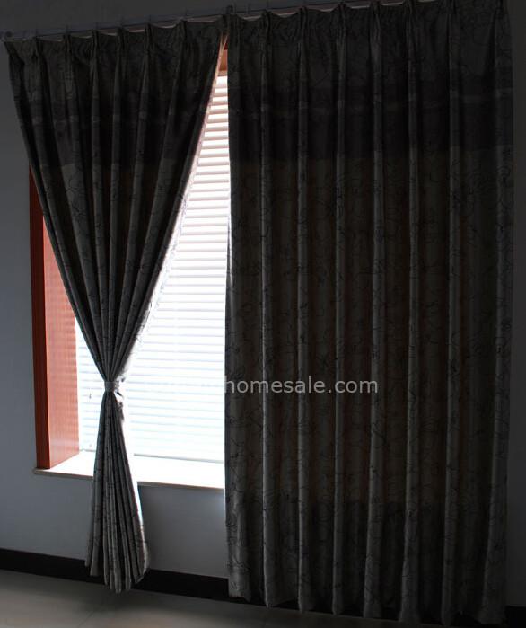 Romantic Floral Thermal Bedroom Long Blackout Curtai