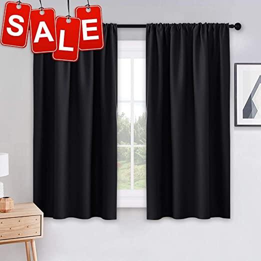 Amazon.com: PONY DANCE Bedroom Blackout Curtains - Light Block .