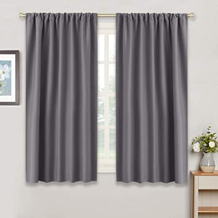 Amazon.com: RYB HOME Bedroom Blackout Curtains - Thermal Insulated .