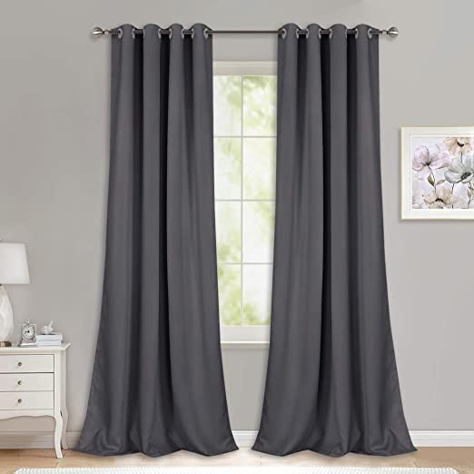 Amazon.com: NICETOWN Bedroom Blackout Curtains Panels - (52 inches .