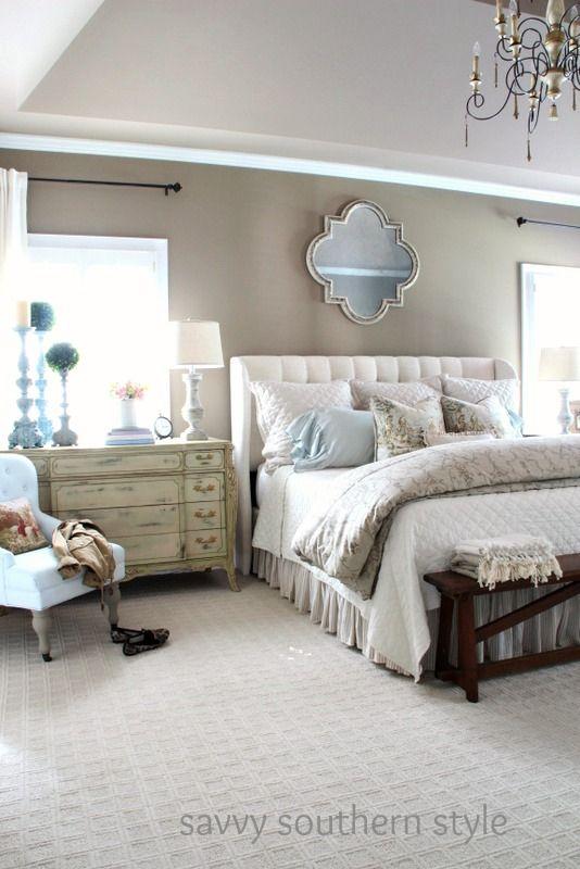 Neutral Cozy Master | Master bedroom interior, Home decor bedroom .