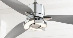 "56"" Possini Euro Design Modern Ceiling Fan with Light LED Remote ."