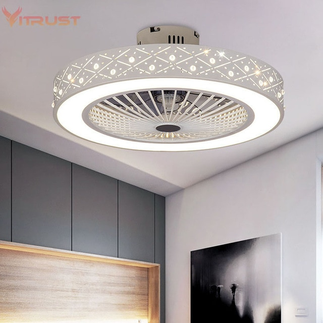 Modern Ceiling Fan Lights Dining Room Bedroom Living remote .