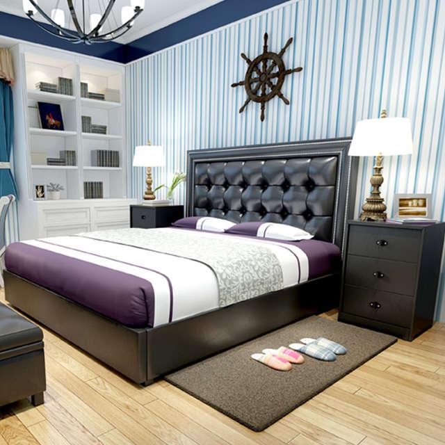 modern design soft bed bedroom furniture bed ,bedside,mattress .