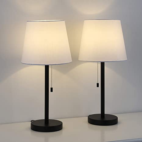 Table lamp, Bedroom Lamps for nightstand Set of 2, Bedside Lamps .