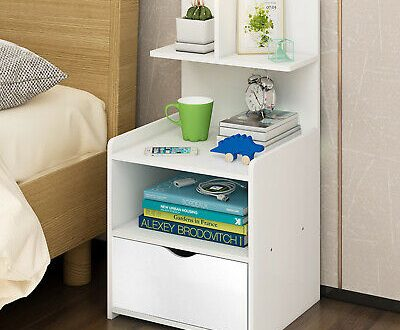 1 Drawer Bedside Table Nightstand Bedroom Side End Table Storage .