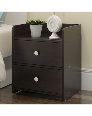Don't Miss These Deals on MDF Wood Bedside Table with 2 Drawers .
