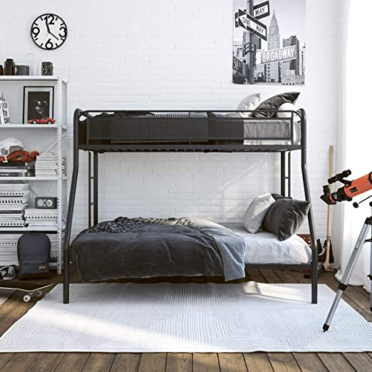 Amazon.com: DHP Rockstar Metal Bunk Bed Frame, Sturdy Metal Design .