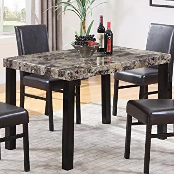 Amazon.com - Best Master Furniture Britney Dining Table Only .