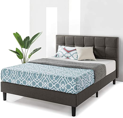 Amazon.com: Best Price Mattress Queen Bed Frame Zoe Upholstered .