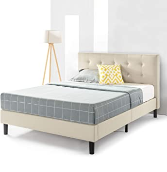 Amazon.com: Best Price Mattress Queen Bed Frame - Liz Upholstered .