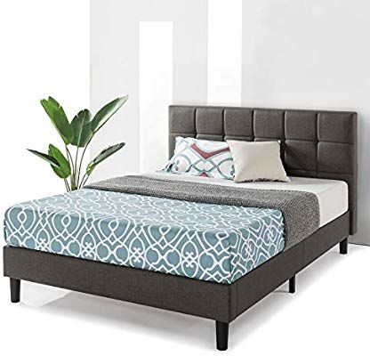 Amazon.com: Best Price Mattress Queen Bed Frame - Zoe Upholstered .