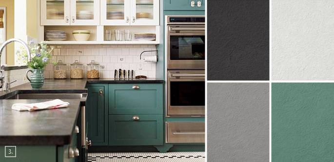 Greatest kitchen cabinet color schemes Concepts — Homes by Ottoman .