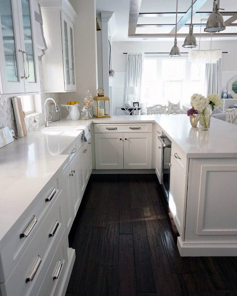 Top 60 Best Kitchen Flooring Ideas - Cooking Space Floo