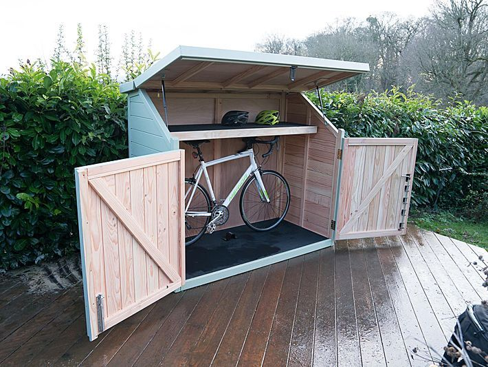 Great idea, a bike shed at the top of our driveway to ge the bikes .