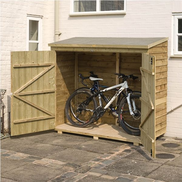 Rowlinson 6' x 3' Double Door Overlap Bike Sh
