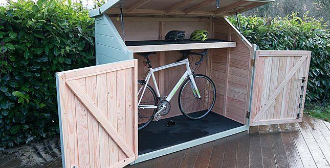 Spokeshed 3 solid timber bike shed   The Bike Shed Company   ESI .