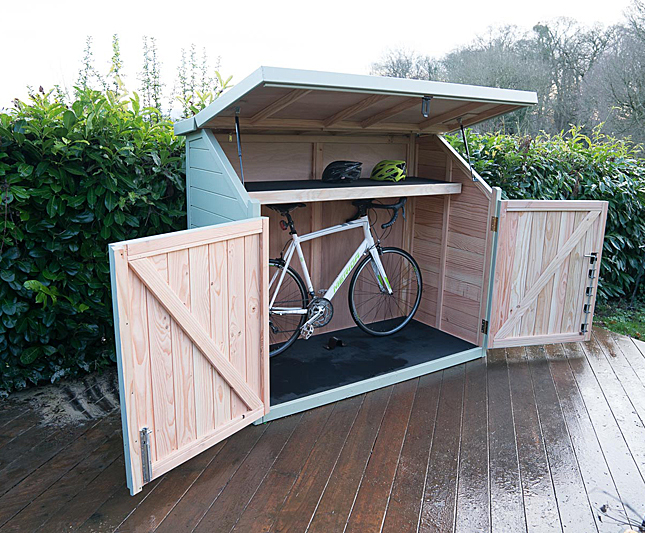 Spokeshed 3 solid timber bike shed | The Bike Shed Company | ESI .