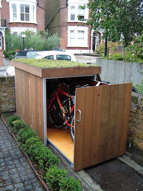 Bike Store Sept 2010 012 | Bike storage, Bike shed, Shed pla