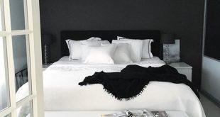 Black and white bedrooms … | White bedroom design, Bedroom .