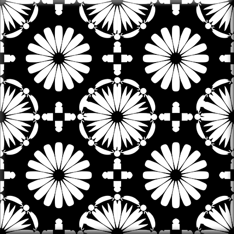 Kaleidoscope Decorative Tile | Oscar & Izzy Ceramic Til