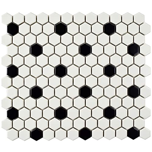 Ceramic Floor Tile Black White: Amazon.c