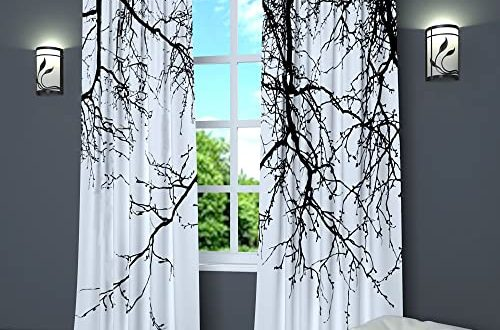 Black and White Curtains for Living Room: Amazon.c