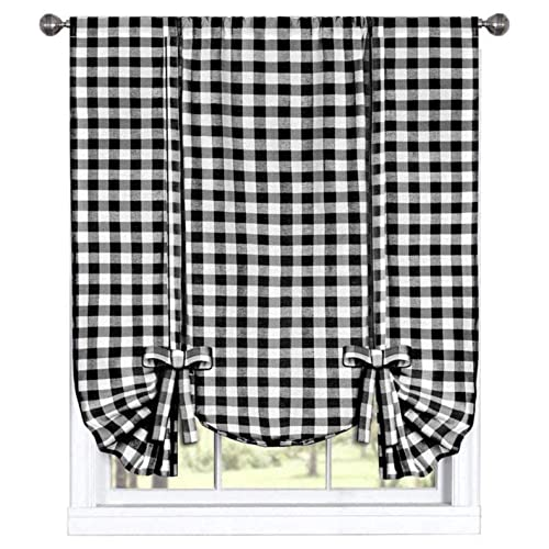 Black and White Kitchen Curtains: Amazon.c