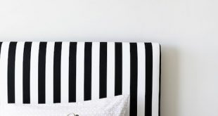 Black and White Stripe Headboard - Transitional - boy's room - UV .