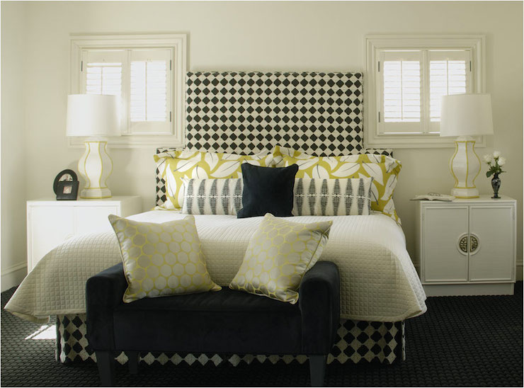 Black and White Headboard - Contemporary - bedroom - Caldwell Fla
