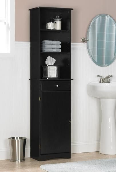 16 Wonderful Black Bathroom Storage Cabinet Photograph Ideas .