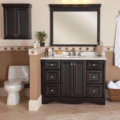 Antique Black - Bathroom Wall Cabinets - Bathroom Cabinets .