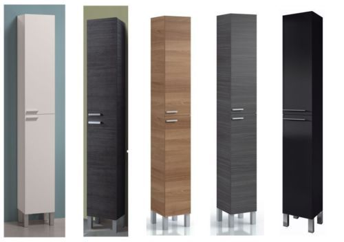 Details about Baltic Tall Bathroom Storage Cabinet Cupboard Grey .