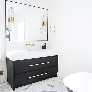 Black Bathroom Vanity Design Ide