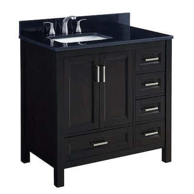 Scott Living Durham 36-in Espresso Single Sink Bathroom Vanity .