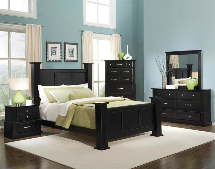 Bold Black Bedroom Furniture with Other Hues Mixture : Charming .