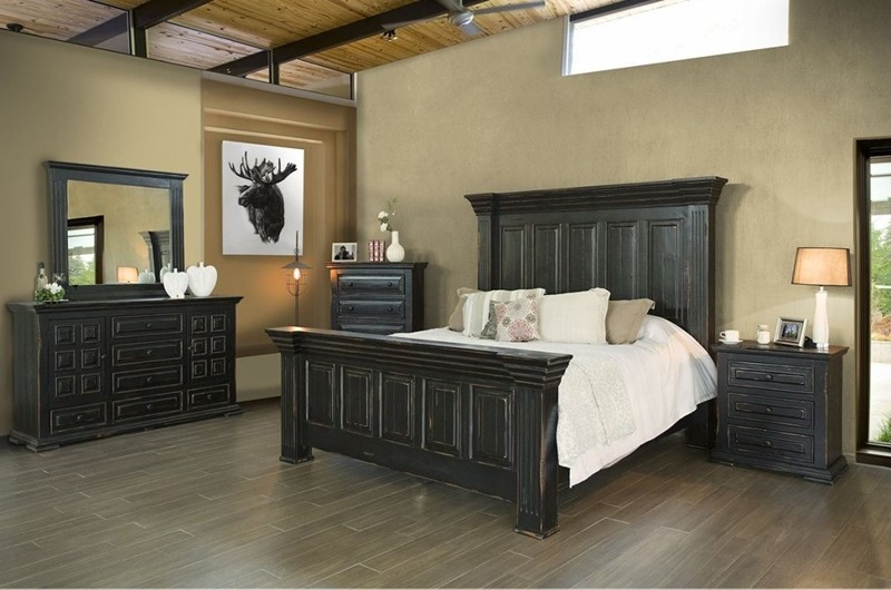 1028 Terra Black Bedroom Set | Clearance - IFD Furnitu