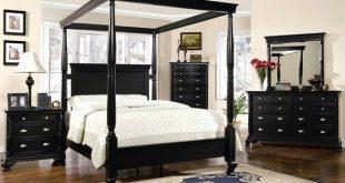 Black Bedroom Furniture Set   St Regis Canopy B