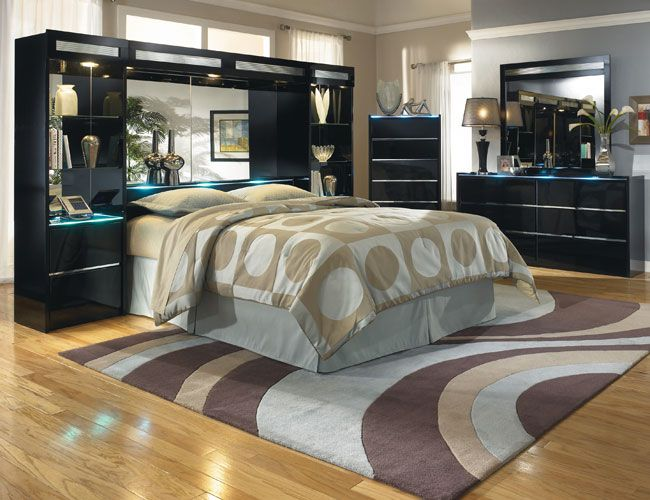 Ashley Furniture black bedroom set | Ashley bedroom furniture sets .