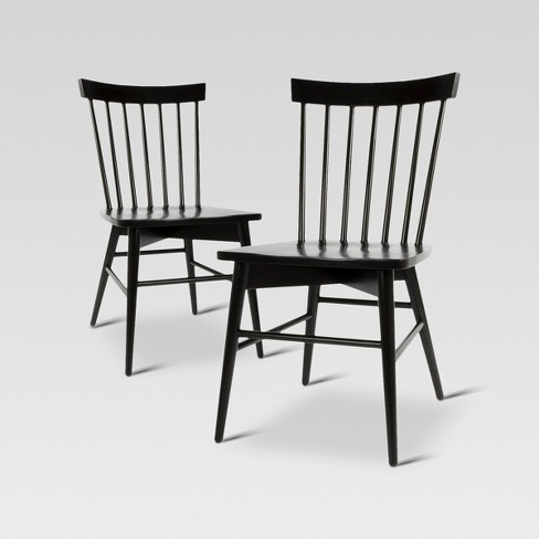 Set Of 2 Windsor Dining Chair Black - Threshold™ : Targ