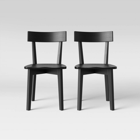 Set Of 2 Bombelli Modern Dining Chair Black - Project 62™ : Targ