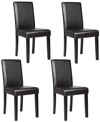 Amazon.com: Mecor Upholstered Dining Chairs Set of 4, Kitchen PU .