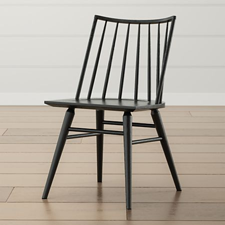 Paton Black Oak Windsor Dining Chair + Reviews | Crate and Barr